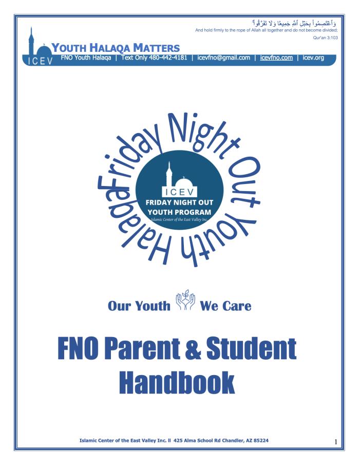 Handbook - FNO ParentStudent